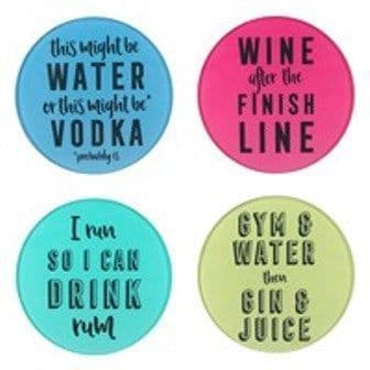 Alcohol and Exercise Glass coasters